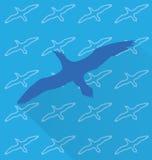 Μπλε seagull στο σχέδιο υποβάθρου Στοκ Εικόνες