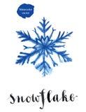 Μπλε snowflake για τις χειμερινές διακοπές Στοκ Φωτογραφίες