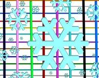 Μπλε snowflake εμβλημάτων ελεύθερη απεικόνιση δικαιώματος