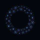 Μπλε snowflake στεφάνι Στοκ Εικόνα