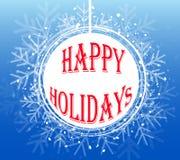 Μπλε Snowflake Χριστουγέννων στεφάνι Διανυσματική απεικόνιση EPS10 Στοκ Εικόνες