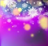 μπλε snowflakes ανασκόπησης άσπρος χειμώνας Στοκ εικόνα με δικαίωμα ελεύθερης χρήσης