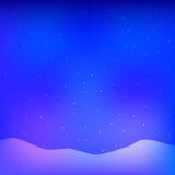 μπλε snowflakes ανασκόπησης άσπρος χειμώνας απεικόνιση αποθεμάτων