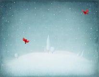 μπλε snowflakes ανασκόπησης άσπρος χειμώνας διανυσματική απεικόνιση