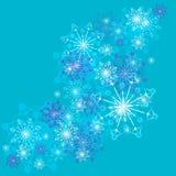 μπλε snowflakes ανασκόπησης λευκό Στοκ Εικόνα