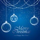 μπλε snowflakes χιονιού Χριστουγέννων ανασκόπησης Στοκ Φωτογραφίες