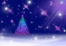 μπλε snowflakes χιονιού Χριστουγέννων ανασκόπησης Στοκ Φωτογραφία