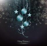 μπλε snowflakes Χριστουγέννων ανασκόπησης Στοκ Φωτογραφίες