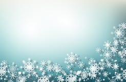 μπλε snowflakes Χριστουγέννων ανασκόπησης Στοκ φωτογραφία με δικαίωμα ελεύθερης χρήσης