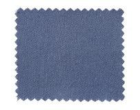Μπλε swatch υφάσματος δείγματα που απομονώνονται στο λευκό Στοκ Φωτογραφία