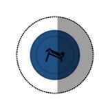 μπλε symbol person do exercise γυμναστική Στοκ εικόνες με δικαίωμα ελεύθερης χρήσης