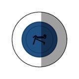 μπλε symbol person do exercise γυμναστική Στοκ φωτογραφία με δικαίωμα ελεύθερης χρήσης