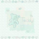 Μπλε teddy Στοκ Φωτογραφίες
