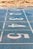 Μπλε treadmill Στοκ φωτογραφία με δικαίωμα ελεύθερης χρήσης