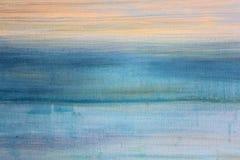 Μπλε Watercolor στον καμβά 3 ελεύθερη απεικόνιση δικαιώματος
