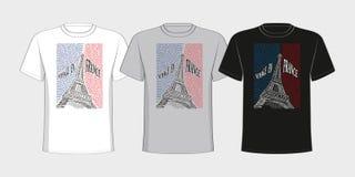 Μπλούζα με μια εικόνα του πύργου του Άιφελ από Στοκ Εικόνα