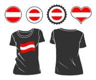 Μπλούζα με τη σημαία της Αυστρίας Στοκ Εικόνα