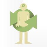 Μυαλό ανακύκλωσης απεικόνιση αποθεμάτων