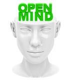 μυαλό ανοικτό Στοκ Εικόνα