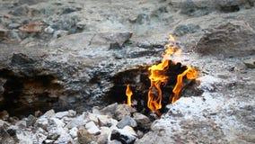 Μυθικά θέση και βουνό με τις φλόγες απόθεμα βίντεο