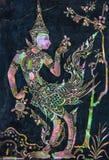Μυθική θηλυκή τέχνη πουλιών που γίνεται από το μαργαριτάρι στον τοίχο γρανίτη Στοκ εικόνα με δικαίωμα ελεύθερης χρήσης