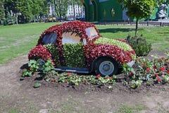 Μυθική μηχανή φιαγμένη από λουλούδια Στοκ εικόνα με δικαίωμα ελεύθερης χρήσης