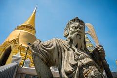 Μυθικό άγαλμα πολεμιστών γρανίτη Στοκ Εικόνες