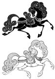 Μυθικό άλογο Στοκ εικόνες με δικαίωμα ελεύθερης χρήσης