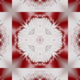 Μυθικό δικτυωτό σχέδιο υπό μορφή snowflakes ή δαντέλλας Στοκ φωτογραφία με δικαίωμα ελεύθερης χρήσης