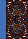 Μυθικό δικτυωτό σχέδιο υπό μορφή snowflakes ή δαντέλλας Στοκ Εικόνα