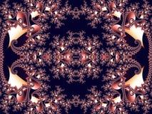 Μυθικό δικτυωτό σχέδιο υπό μορφή snowflakes ή δαντέλλας Στοκ φωτογραφίες με δικαίωμα ελεύθερης χρήσης