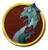 Μυθικό ζώο Zombie LochNess Διανυσματική απεικόνιση