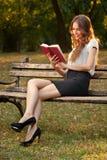 Μυθιστόρημα στο πάρκο Στοκ Φωτογραφίες