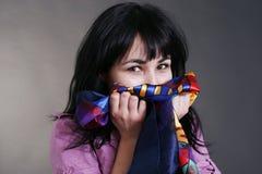 μυρίζοντας γυναίκα πλυντηρίων Στοκ Εικόνες