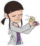 Μυρίζοντας κορίτσι στοκ φωτογραφία με δικαίωμα ελεύθερης χρήσης
