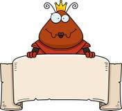 Μυρμήγκι κινούμενων σχεδίων βασίλισσα Armor Banner Στοκ Εικόνες