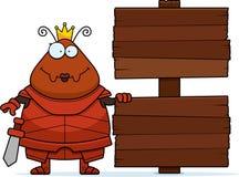 Μυρμήγκι κινούμενων σχεδίων βασίλισσα Armor Sign ελεύθερη απεικόνιση δικαιώματος