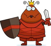 Μυρμήγκι κινούμενων σχεδίων βασίλισσα Armor Sword Στοκ Εικόνες