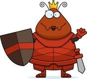 Μυρμήγκι κινούμενων σχεδίων κυματισμού βασίλισσα Armor Στοκ Εικόνες