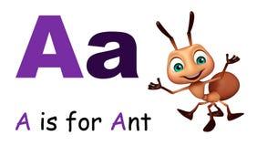 Μυρμήγκι με το alphabate Στοκ Φωτογραφία