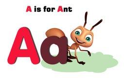 Μυρμήγκι με το alphabate Στοκ φωτογραφία με δικαίωμα ελεύθερης χρήσης