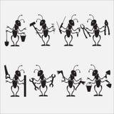 Μυρμήγκι που εργάζεται με το σύμβολο εργαλείων Στοκ φωτογραφία με δικαίωμα ελεύθερης χρήσης