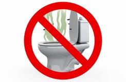 Μυρωδιά από την τουαλέτα - απαγορευμένο σημάδι, τρισδιάστατη απεικόνιση Στοκ Φωτογραφία
