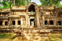 Μυστήρια είσοδος TA Kou σε Angkor Wat η Καμπότζη συγκεντρώνει siem Στοκ Εικόνες