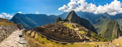 Μυστήρια πόλη - Machu Picchu, Περού, Νότια Αμερική. Οι καταστροφές Incan. Στοκ φωτογραφία με δικαίωμα ελεύθερης χρήσης