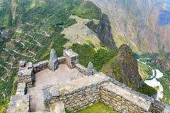 Μυστήρια πόλη - Machu Picchu, Περού, Νότια Αμερική. Οι καταστροφές Incan. Στοκ Φωτογραφία