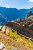 Μυστήρια πόλη - Machu Picchu, Περού, Νότια Αμερική Οι καταστροφές Incan Στοκ εικόνες με δικαίωμα ελεύθερης χρήσης