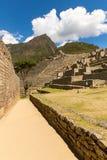 Μυστήρια πόλη - Machu Picchu, Περού, Νότια Αμερική Οι καταστροφές Incan Στοκ φωτογραφία με δικαίωμα ελεύθερης χρήσης