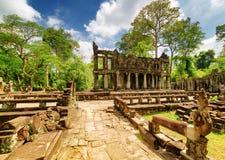 Μυστήριες καταστροφές του αρχαίου ναού Preah Khan, Angkor, Καμπότζη Στοκ εικόνες με δικαίωμα ελεύθερης χρήσης