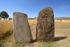 Μυστήριοι megalithic στυλοβάτες Tiya, περιοχή παγκόσμιων κληρονομιών της ΟΥΝΕΣΚΟ, Αιθιοπία στοκ φωτογραφία με δικαίωμα ελεύθερης χρήσης